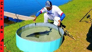 Making PORTABLE POOL POND for LARGE FISH AQUARIUM on FISH FARM!