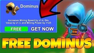 *FREE DOMINUS* (FREE LEGENDARY HATS) MINING SIMULATOR (Roblox)