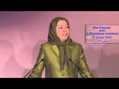 Maryam Radjavi -Vœux de 2016-Solidarité des maires et élus français avec la Résistance iranienne