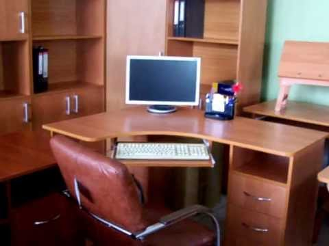 Книжный шкаф и компьютерный стол на заказ - YouTube