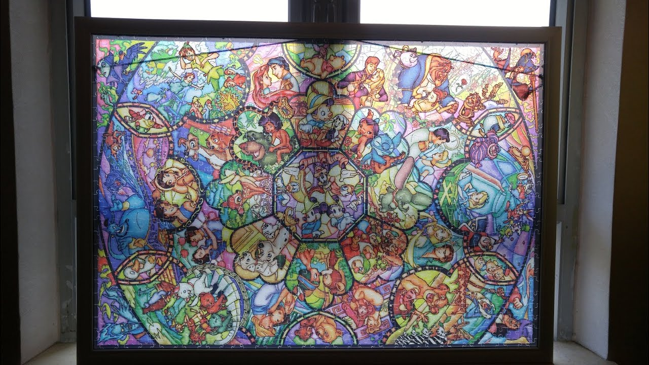 Disney Stained Glass Puzzle.Disney Stained Glass Puzzle Time Lapse For My Wife