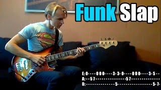 FUNKY SLAP for beginners WITH TABS!!!