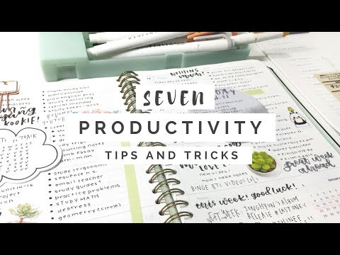 Seven Productivity Tips || revisign