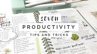 Seven Productivity Tips || revisign