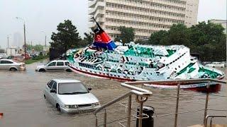 Наводнение в Новороссийске затопило улицы потоп ливень 3 июня 2016 / flood Russian Novorossiysk