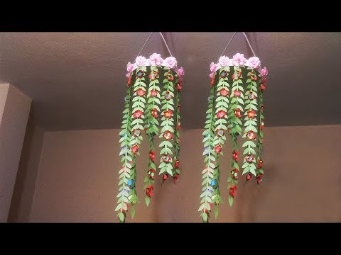 AWESOME PAPER Ceiling Hanging CRAFT IDEAS || DIY ROOM DECOR || Afruja Arts And Crafts