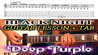 Black Night RIFF (Deep Purple) GUITAR LESSON with TAB