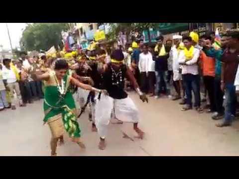 Gondi Tribal Dance, 9 August 2017 Vishv Aadivasi Diwas Rally, Wardha||!Part-1!||