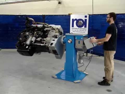 Roi Machinery Amp Automation Rotating Engine Stand Youtube