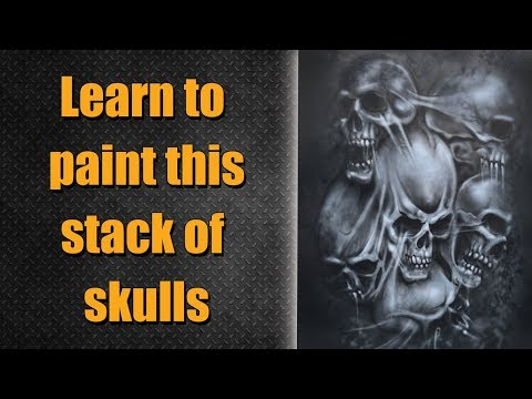⚫️ Raw - Learn to airbrush this artwork.
