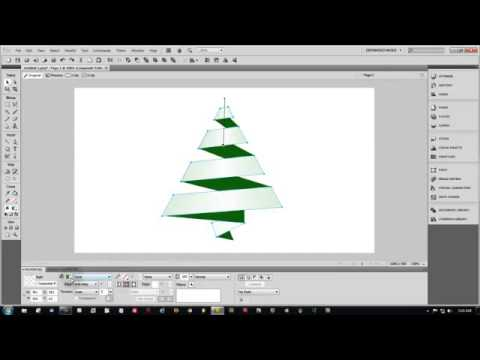 Adobe Fireworks CS5 Tutorial - Vector Christmas Tree Ribbon Graphic Design Training
