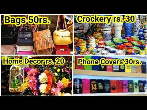 Street Shopping At Gariahat-2 || Crockry, Home Decor,House Hold,Bedsheet,|| Cheapest Market