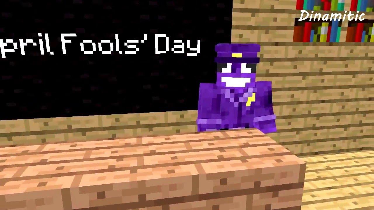 FNAF Monster School: April Fool's Day - Minecraft Animation