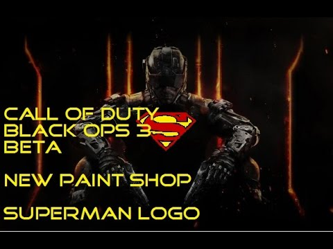 call of duty black ops 3 beta new paint shop superman logo xbox one youtube. Black Bedroom Furniture Sets. Home Design Ideas