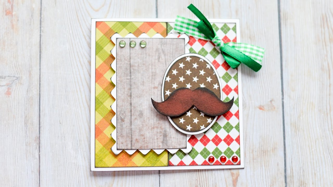 How To Make Greeting Card Grandfather Father Birthday Step By