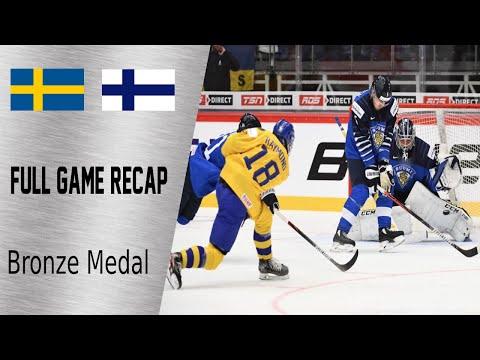Sweden vs Finland Bronze Medal game Highlights   January 5th, WJC 2020