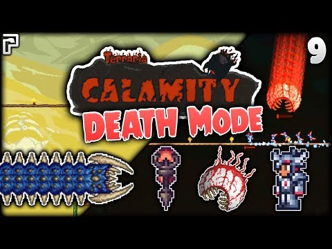 The Scourge Rematch & The INSANE Eye! | Terraria Calamity Mod Death Mode Let's Play [Episode 9]