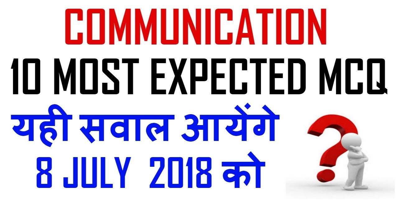 Ugc Net - 10 Most Expected MCQ || Communication || Must Attempt