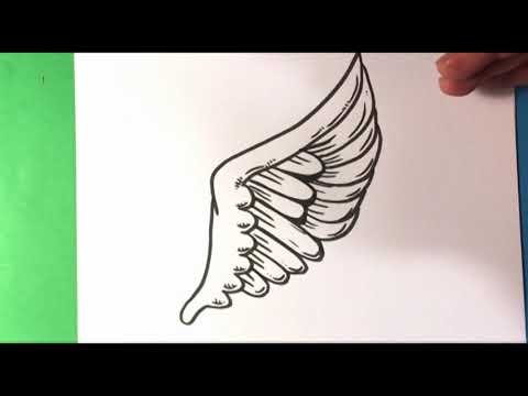 How To Draw Wing Tattoo Design - Draw Tattoo Art - Drawing Step By Step For Beginners Easy
