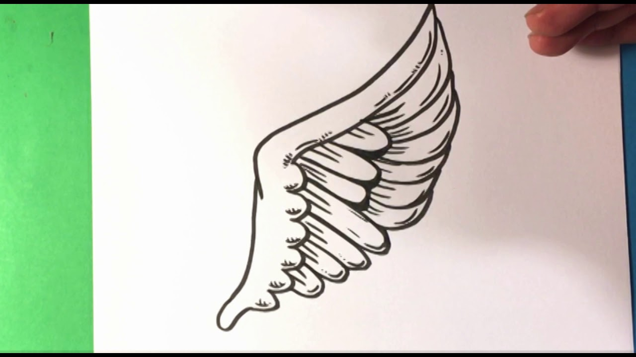 How To Draw Wing Tattoo Design Draw Tattoo Art Drawing Step By Step For Beginners Easy