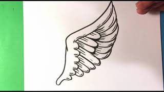 easy draw tattoo drawing wing step drawings beginners designs wings cool pencil awesome easydrawings skull learn