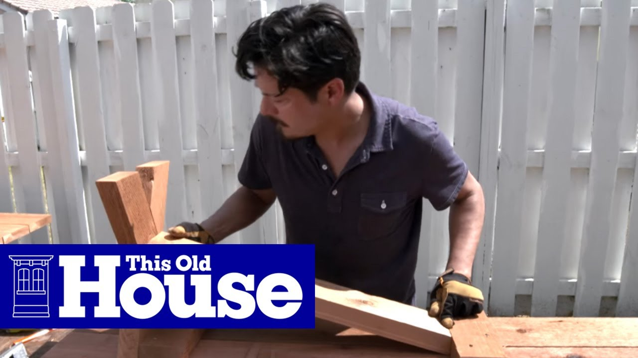 How to Build a Classic Picnic Table | This Old House - YouTube