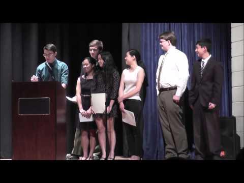 Latin Honor Society induction Apr 28 15