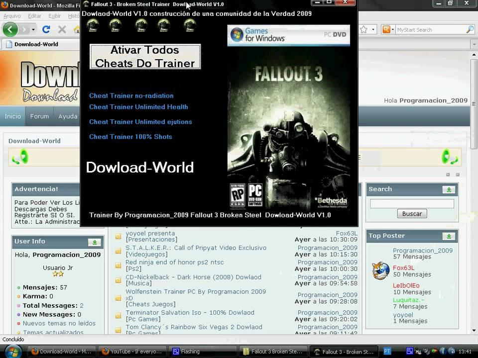 Скачать Трейнер Для Fallout 3 - фото 3