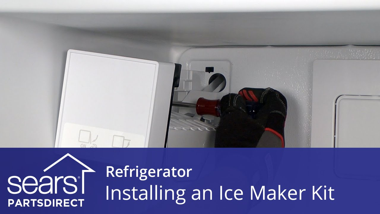 Install a Refrigerator Ice Maker Kit - YouTube