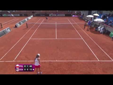 Swiatek Iga v Anisimova Amanda - 2016 Junior Fed Cup finals