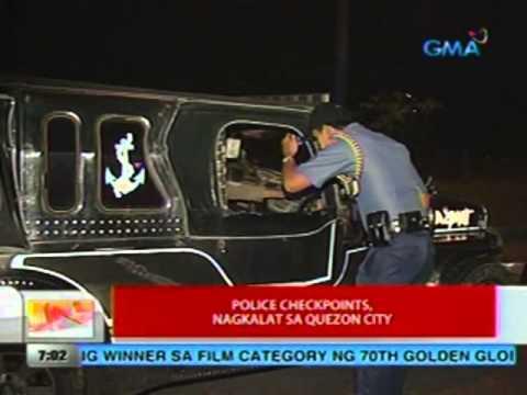 UB: Police checkpoints, nagkalat sa Quezon city