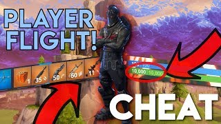 PLAYGROUND CHEAT! Flying, Invincible, FULL Creative Inventory, Infinite Mats/Ammo etc. | Fortnite
