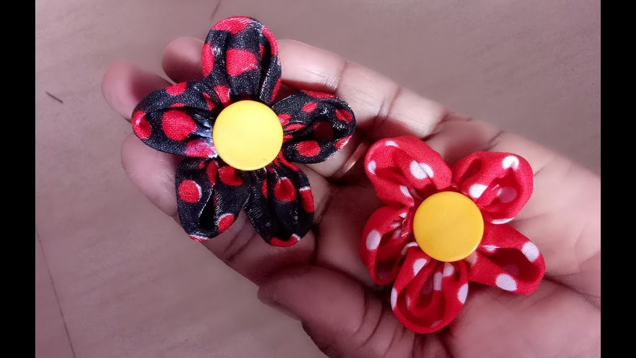 How To Make Handmade Flowers From Fabric Step By