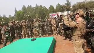 Yel yel TNI bersama tentara Australia