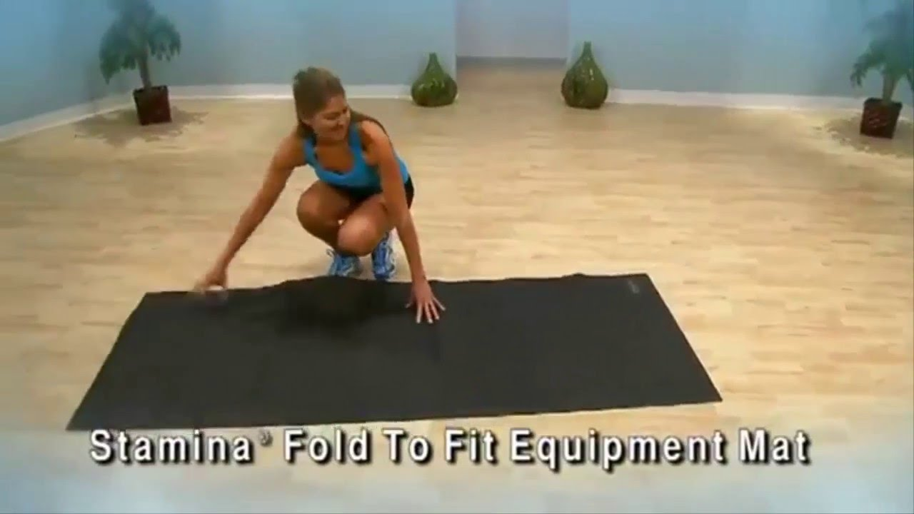 Stamina Fold-to-Fit Folding Equipment Mat 84-Inch by 36-Inch