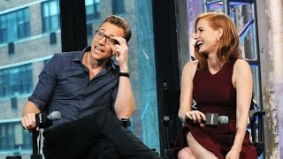 Tom Hiddleston, Mia Wasikowska and Jessica Chastain on AOL BUILD - Oct 16, 2015