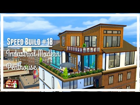 Sims 4: INDUSTRIAL MODERN PENTHOUSE | Speed Build