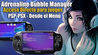 Adrenaline Bubble Manager PSvita Crea Accesos Directos