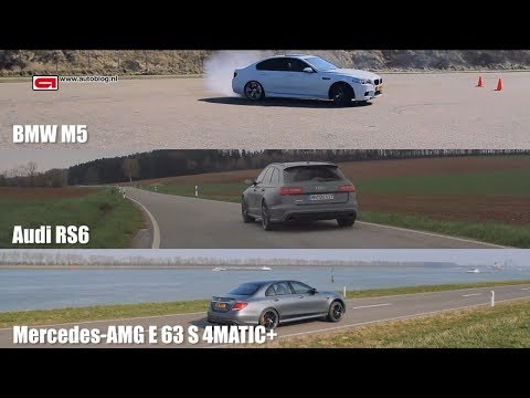 Audi RS6 vs BMW M5 vs Mercedes AMG E 63 S 4MATIC+