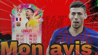 FIFA 20 CLEMENT LENGLET 93 CHALEUR ETE MON AVIS