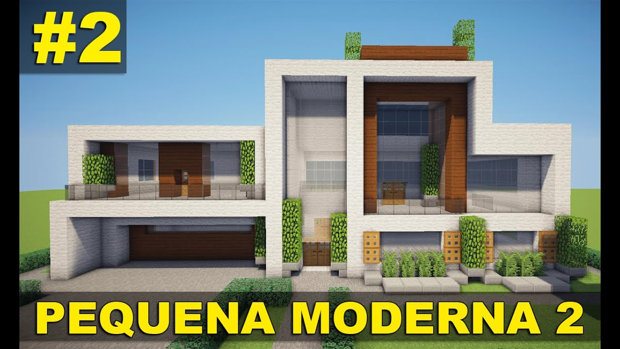Minecraft tutorial 2 pequena casa moderna parte 2 for Casa moderna 2 minecraft