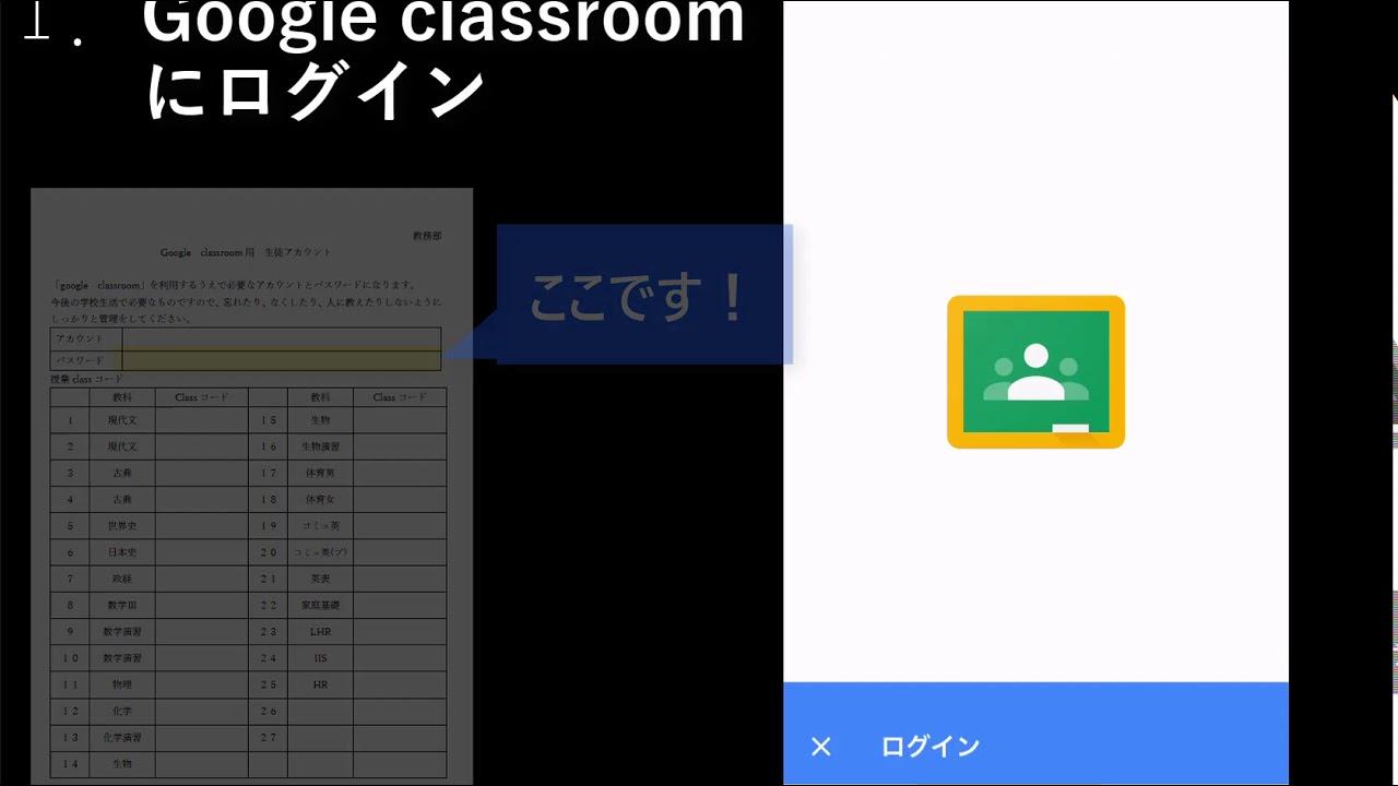 クラスルーム ログイン google