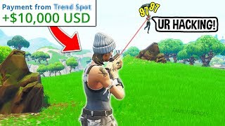 Cheating Against Pro Player to Win $10,000 (Fortnite)