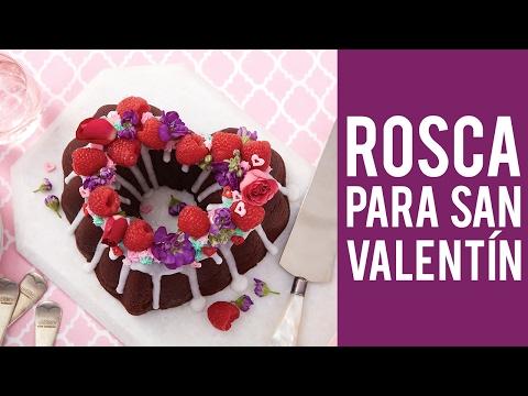 Receta de pastel o rosca de chocolate en forma de corazón