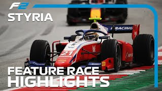 F2 Feature Race Highlights | 2020 Styrian Grand Prix|FORMULA 1