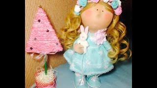 Волосы для куклы. Клеим трессы.