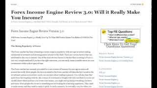 Forex Income Engine Review 3.0 - Does It Really Work?
