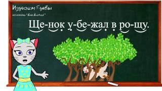Урок 33. Учим букву Щ, читаем слоги, слова и предложения вместе с кисой Алисой. (0+)