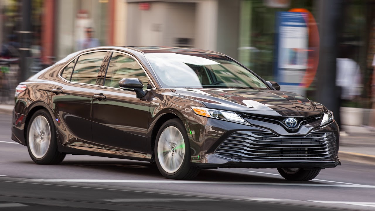 all new camry hybrid brand toyota se 2018 video road test youtube