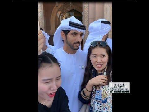 Dubai Crown Prince (فزاع Fazza)  attends wedding reception